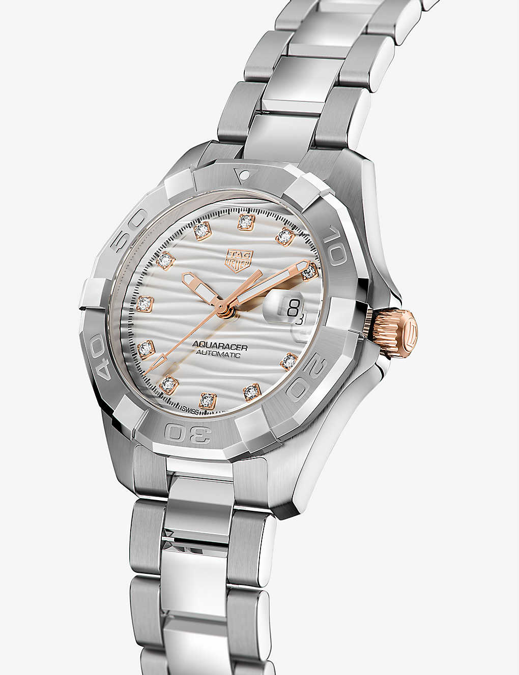 TAG Heuer Aquaracer Rose Gold & Diamond Watch for Best Entry Level Luxury Watch