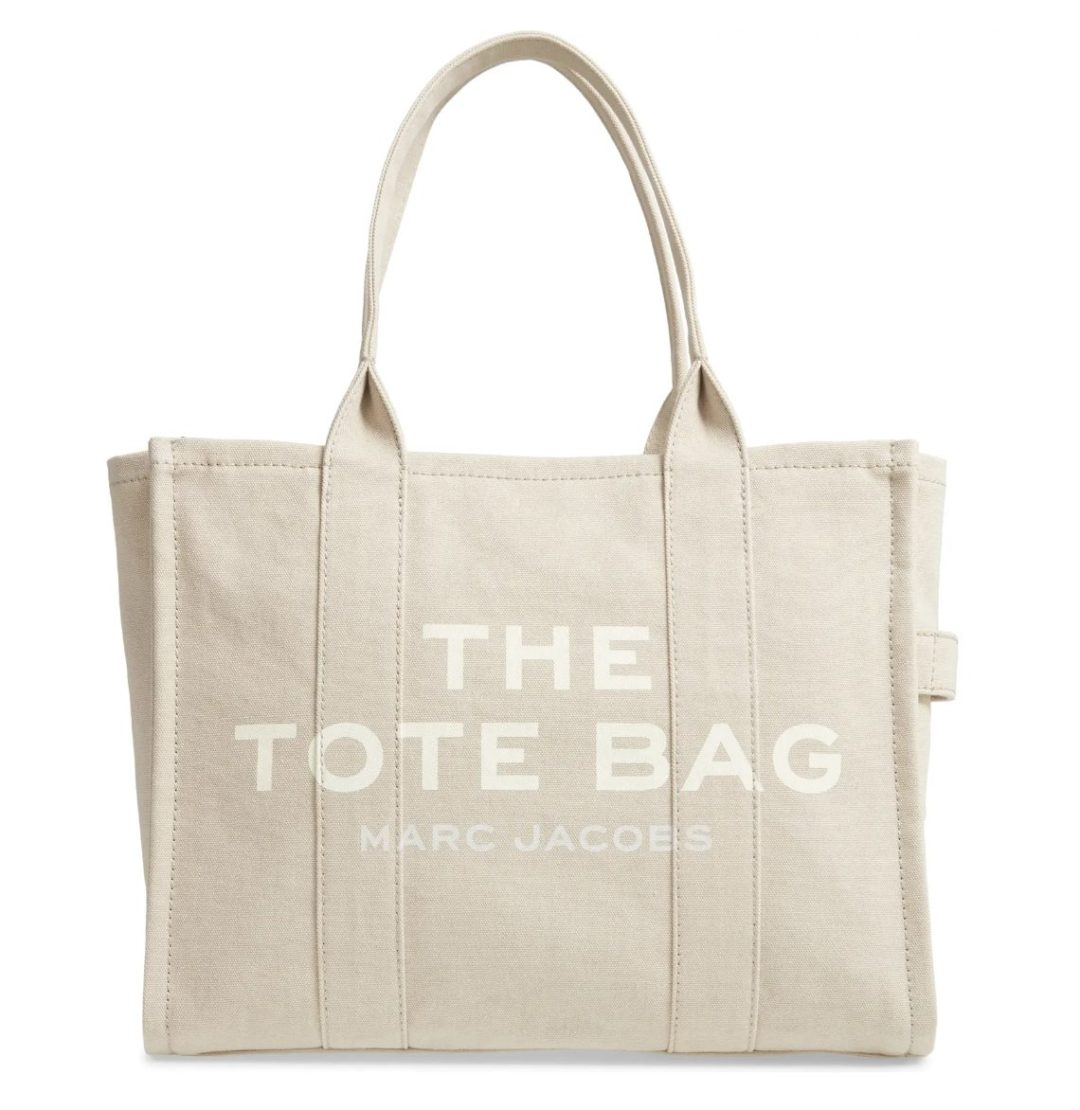 Best Designer Tote Bags For Travel: Marc Jacobs Tote Bag in beige