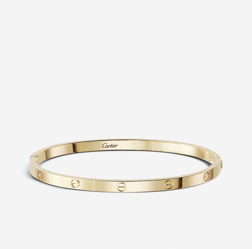 Gold Cartier Love Bracelet for Cartier vs. Tiffany