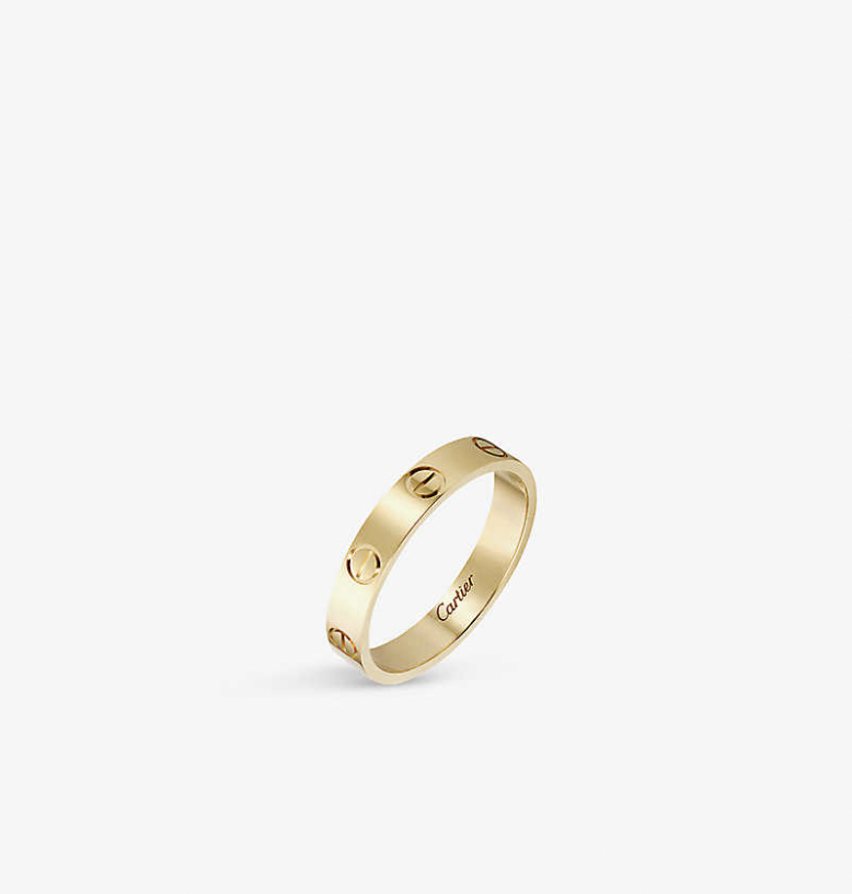 Gold Cartier Love Ring for Cartier vs. Tiffany
