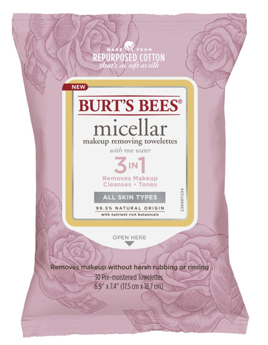 Burt's Bees Micellar Towelettes for Best Drugstore Skincare Products