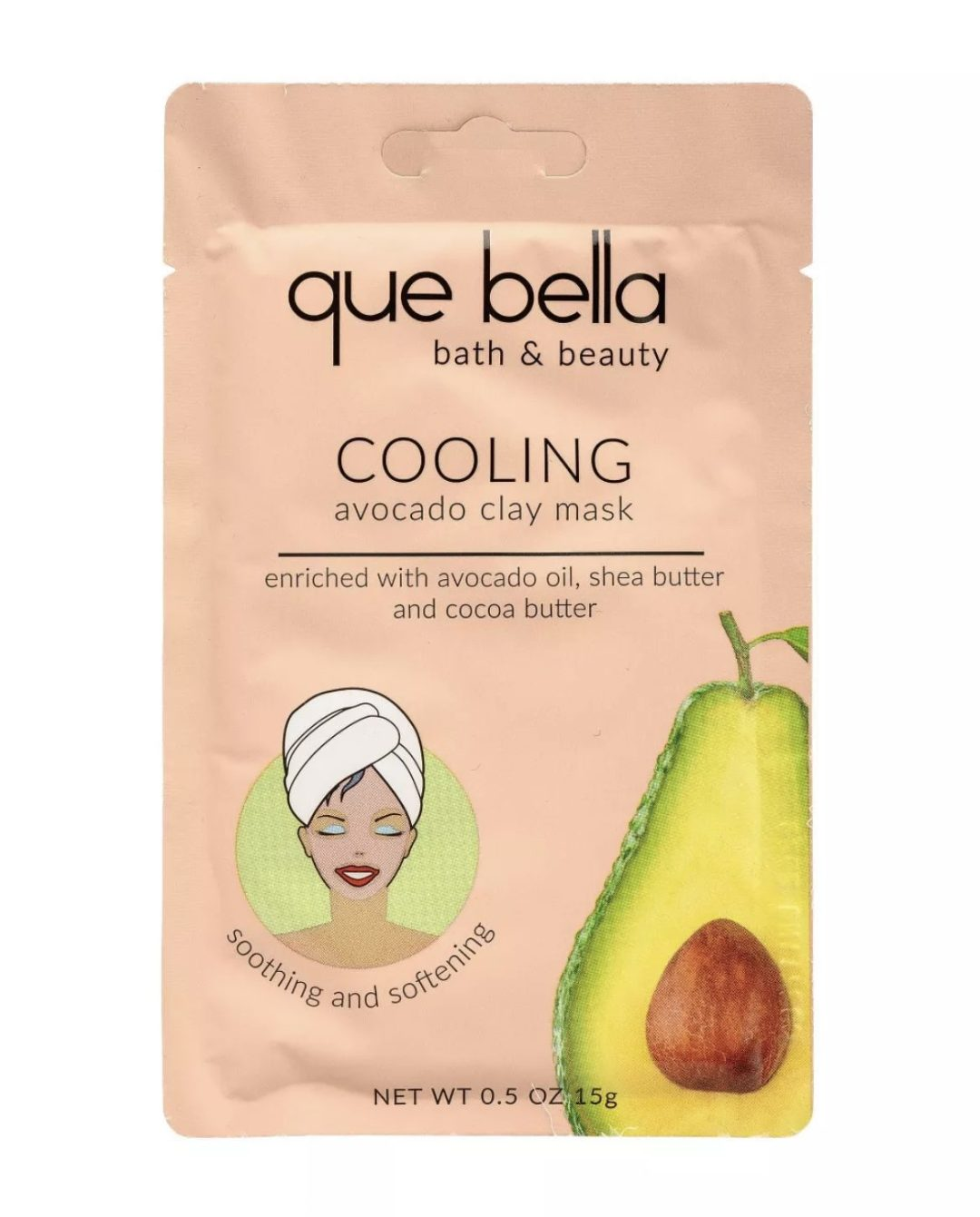 Que Bella Cooling Avocado Clay Mask