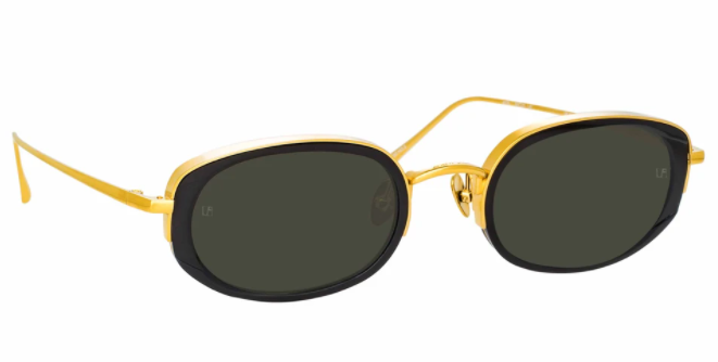 Linda Farrow Rosie Oval Glasses with gold rims