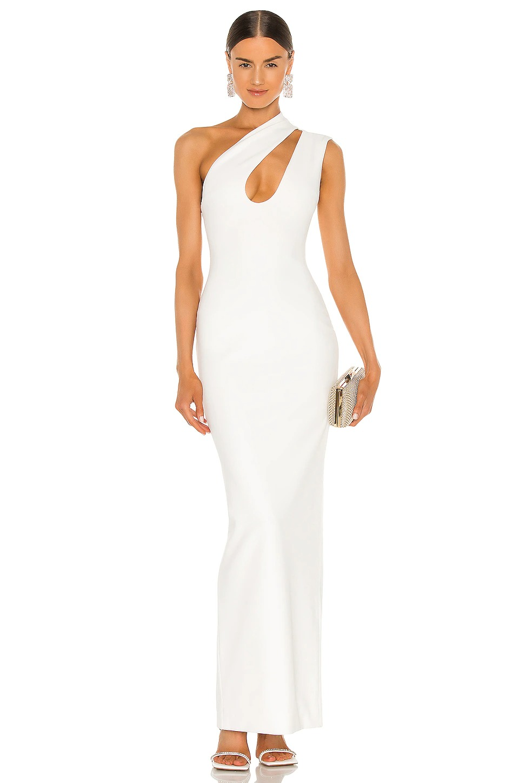 Elegant affordable wedding dress with one shoulder