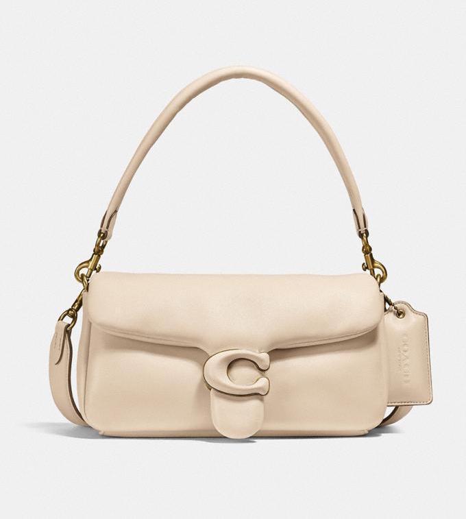 Coach Pillow Tabby Shoulder Bag in beige for best designer bags under $500