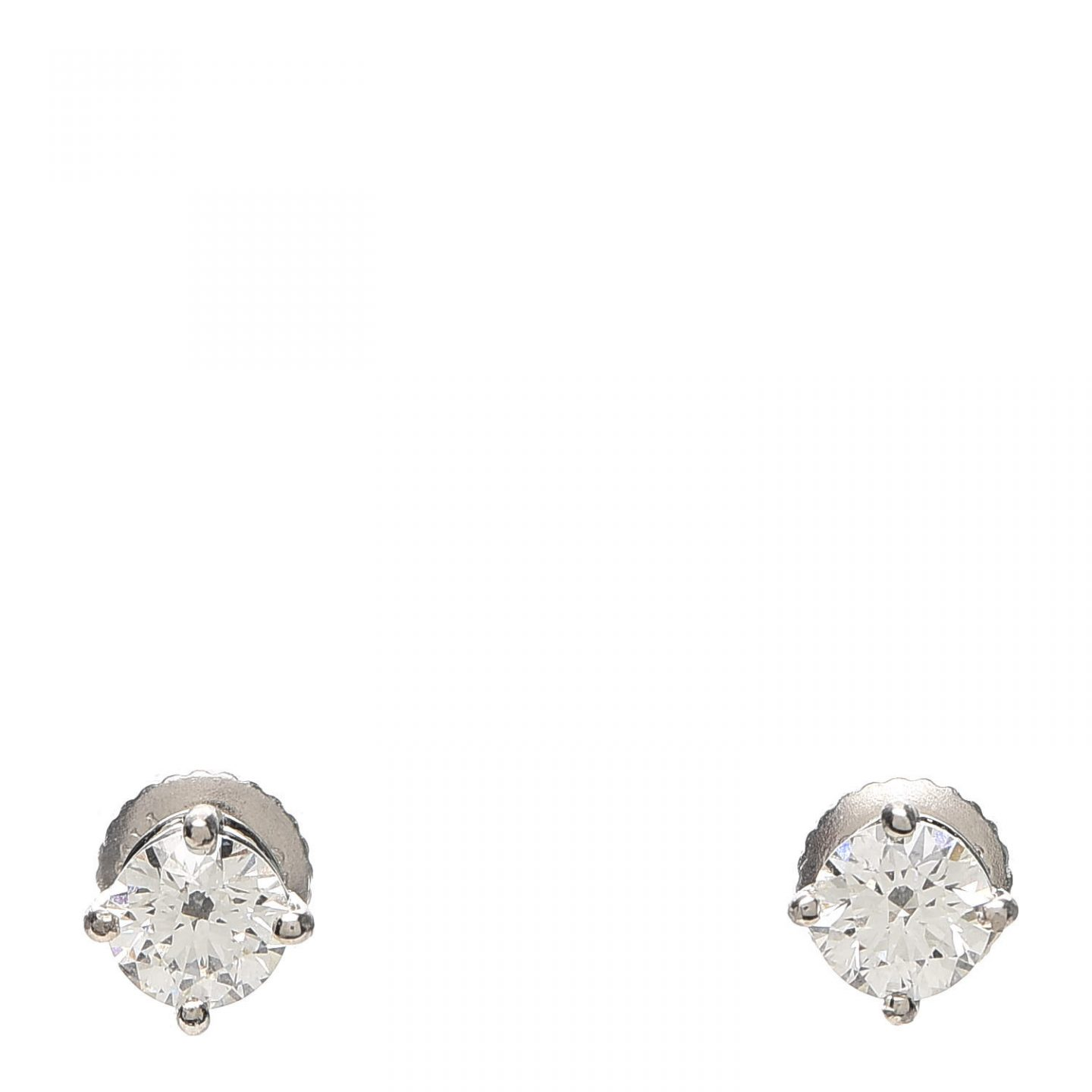 Tiffany Platinum Solitaire Earrings