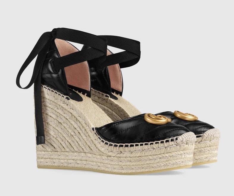 Gucci Platform Leather Espadrilles for best designer espadrilles