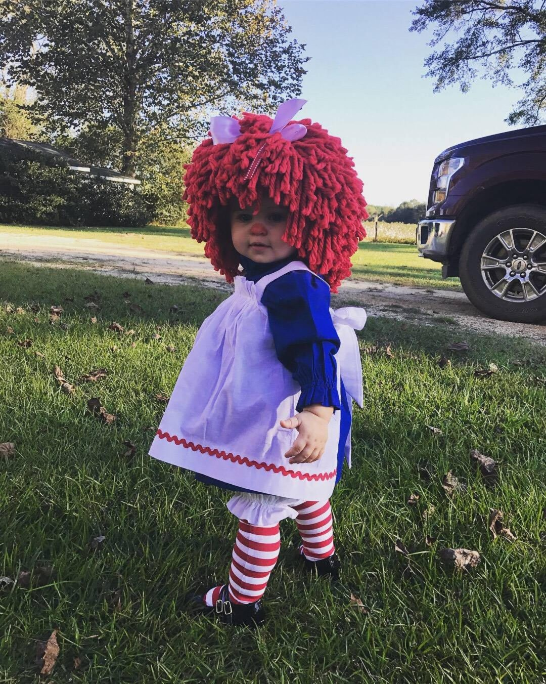 Raggedy Ann Doll for Toddler Halloween Costumes
