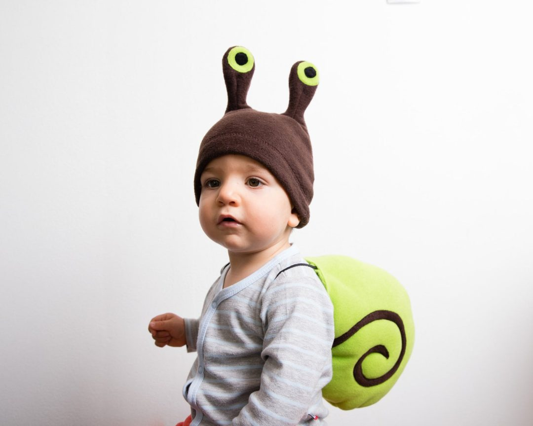 Green snail costume for Toddler Halloween Costumes