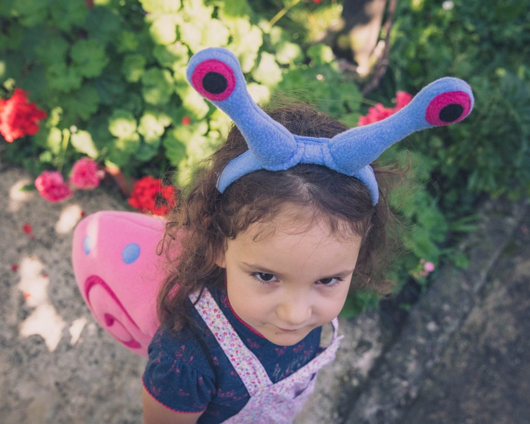 Pink snail for Toddler Halloween Costumes
