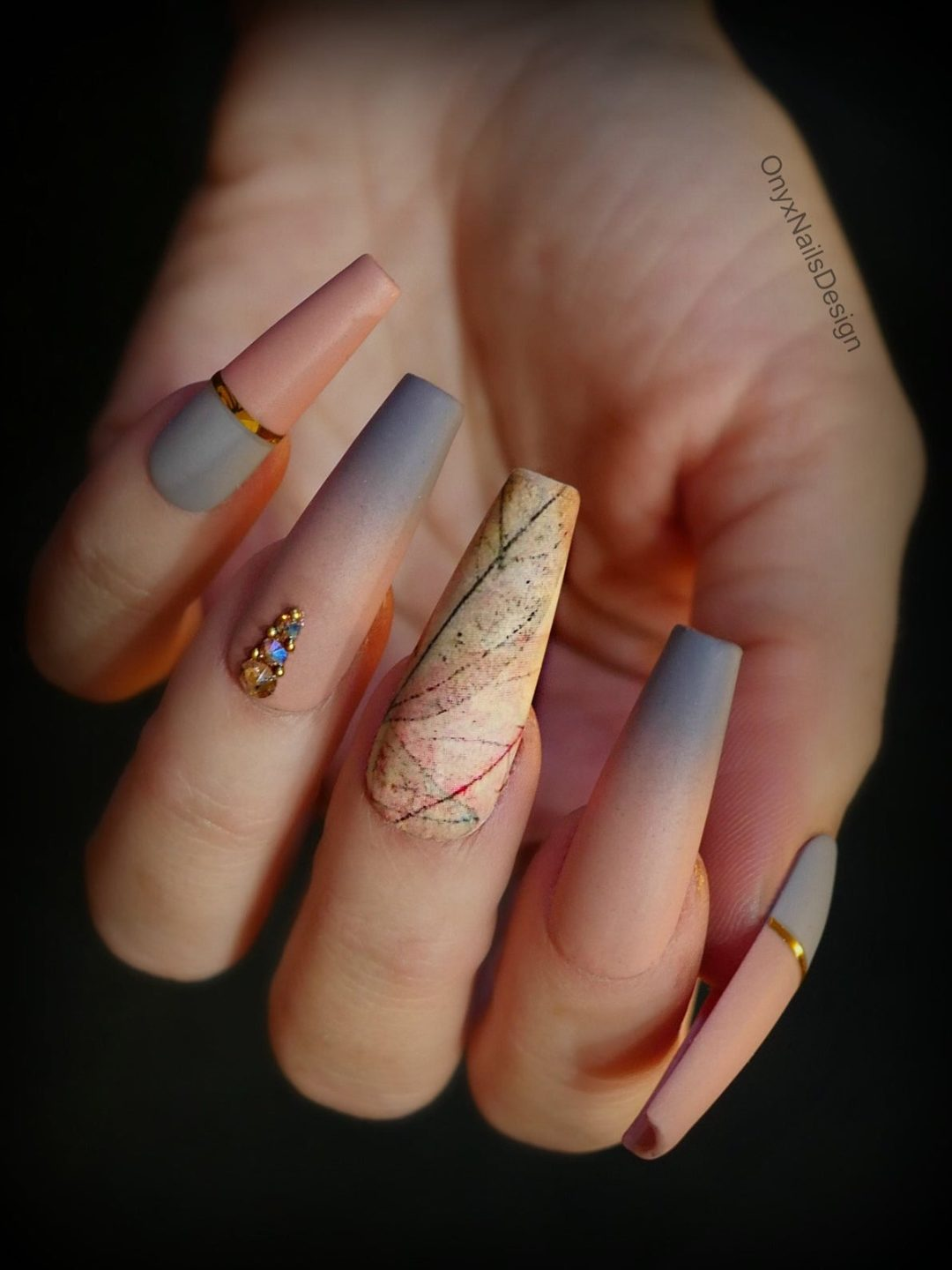 40 Stunning Grey Nail Designs To Fall In Love With In 2021