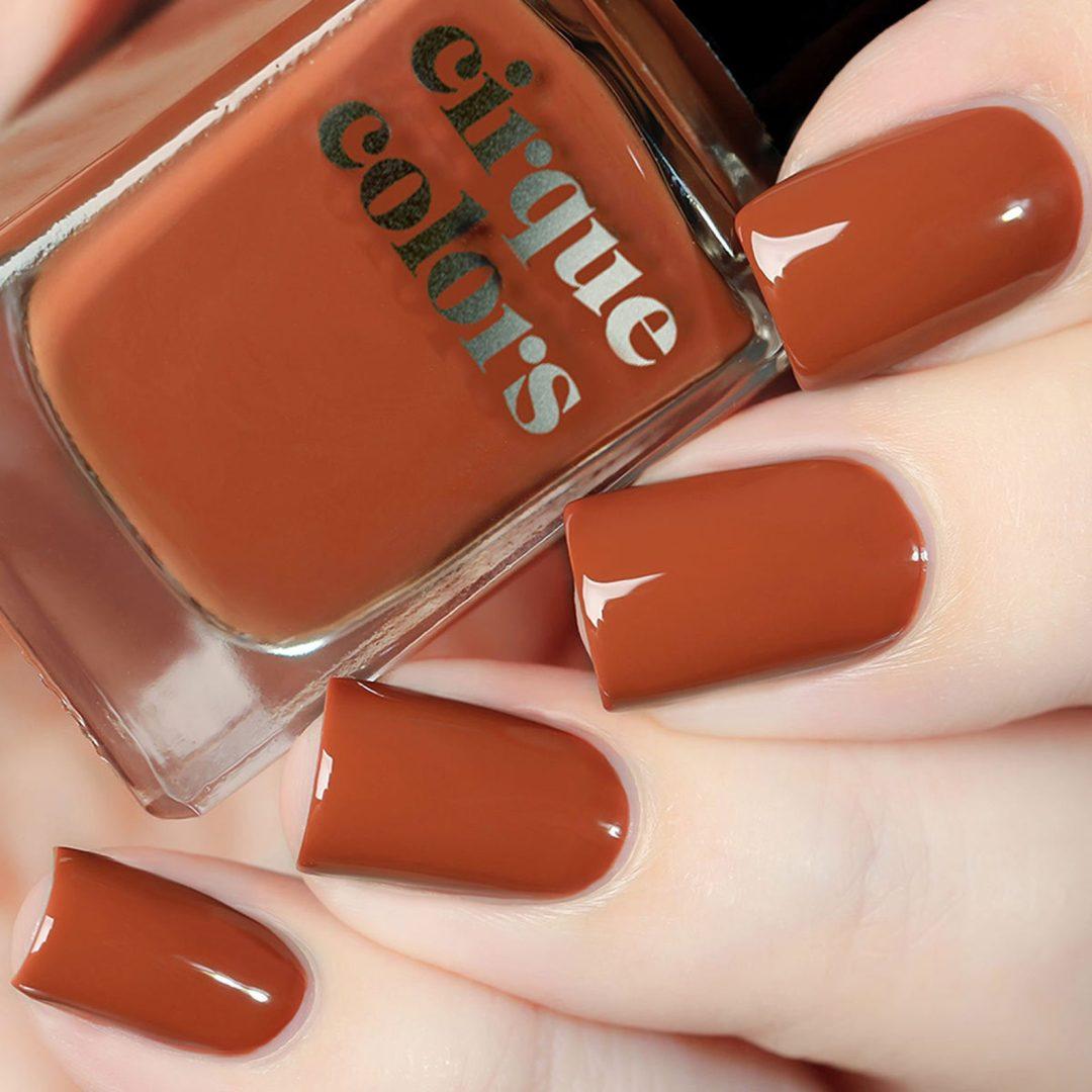 Burnt orange nail polish