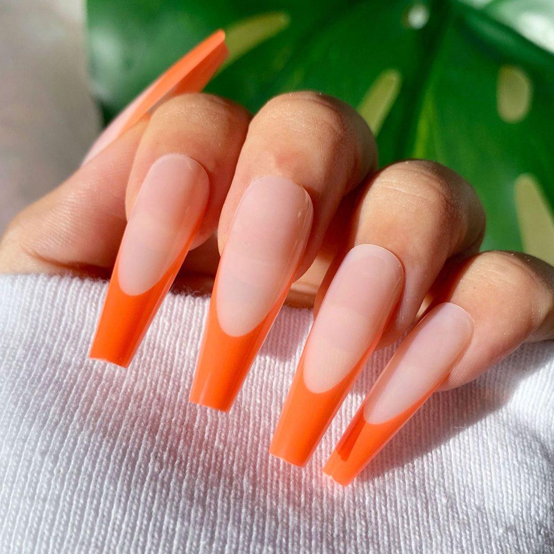 Burnt orange tips