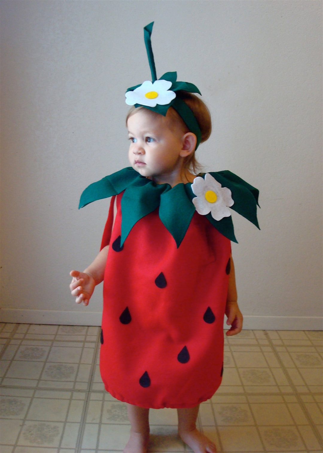 Baby strawberry for Toddler Halloween Costumes