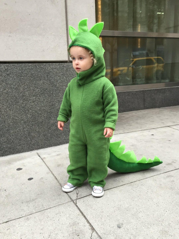 Little green dinosaur for Toddler Halloween Costumes
