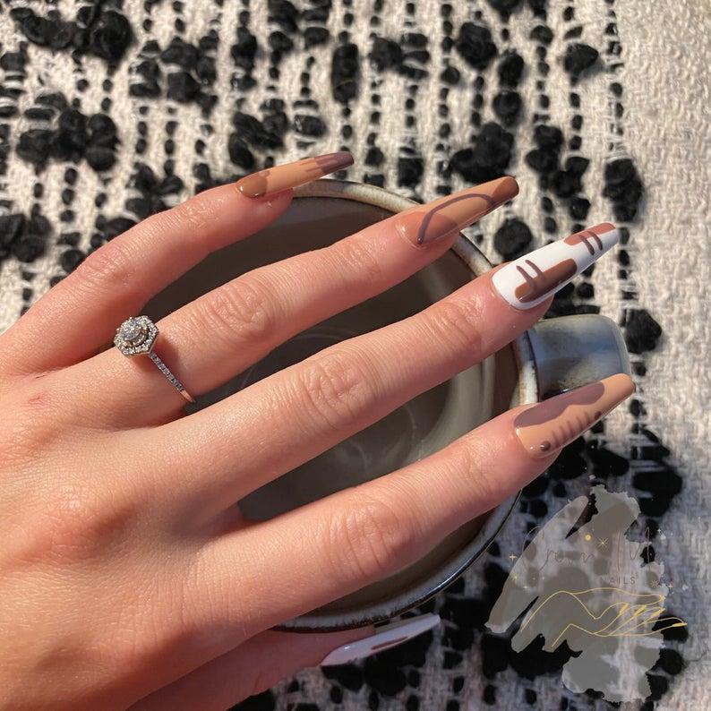 Abstract brown nails