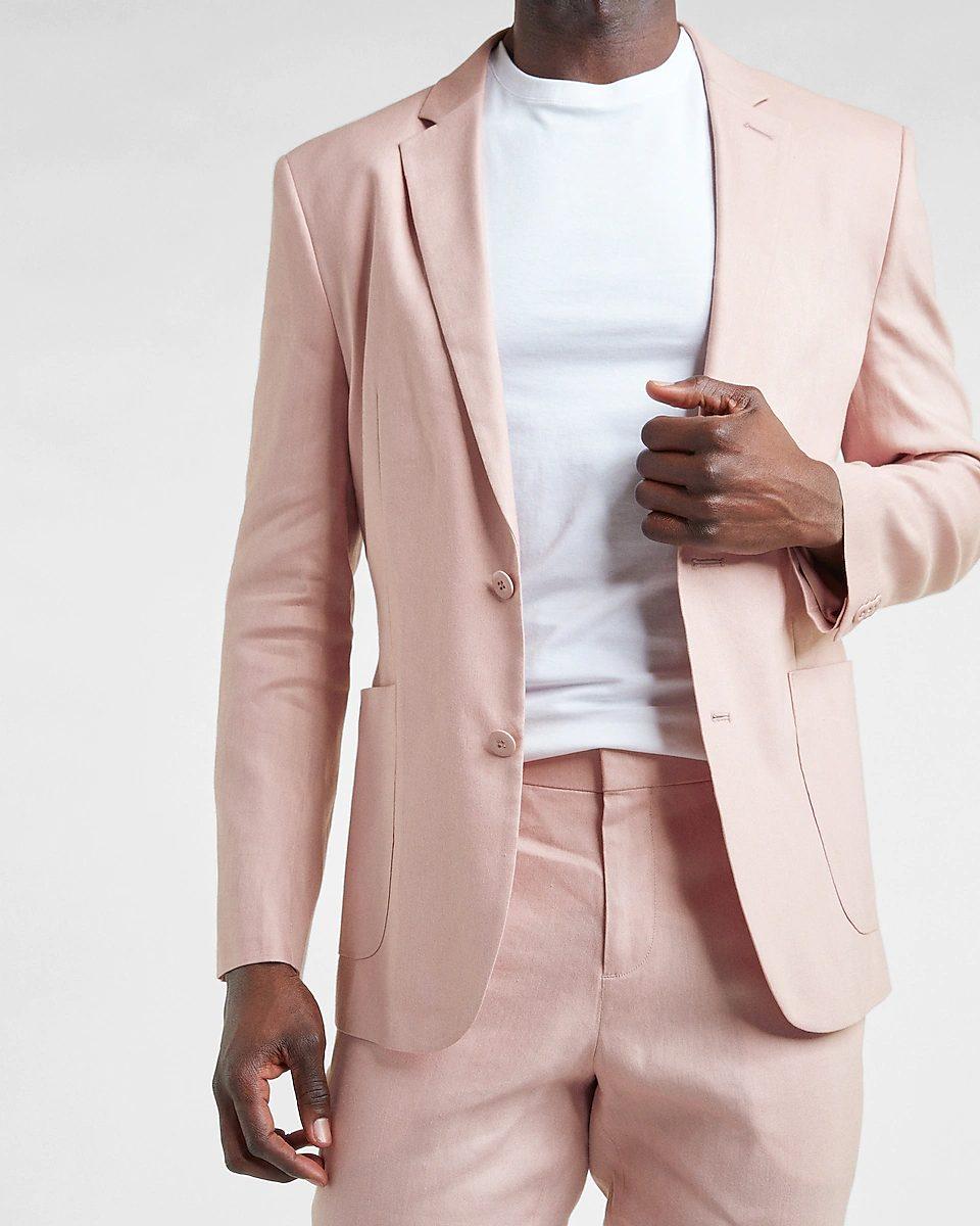 Light pink blazer jacket for men