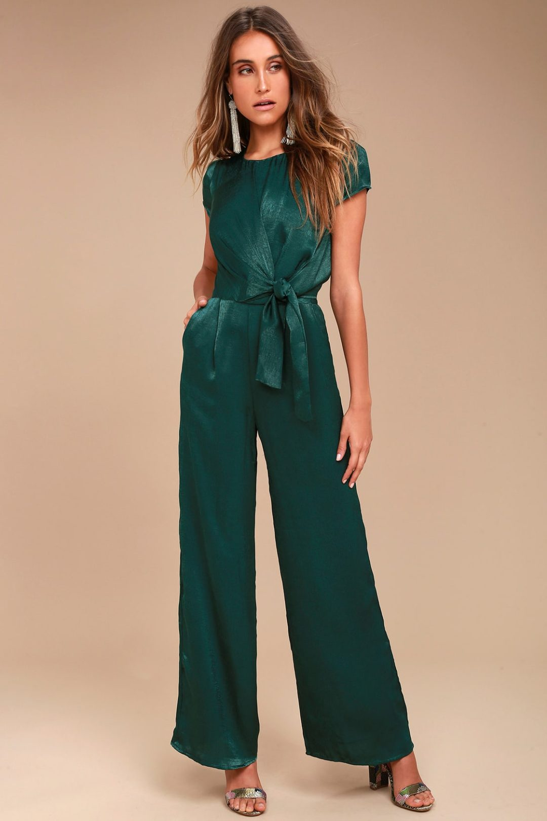 Emerald green pant suit for mother of groom