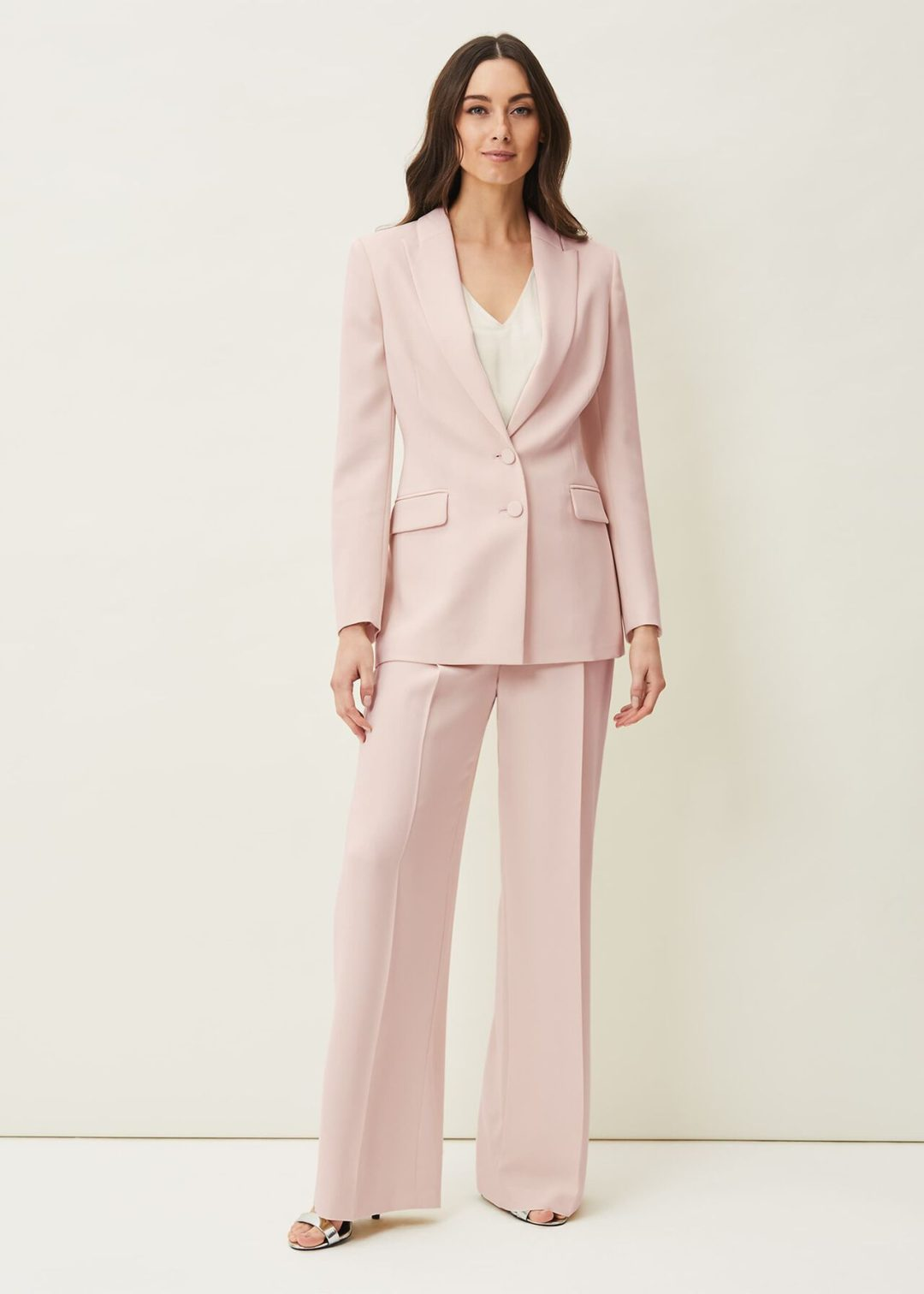 Light pink pant suit for mother of groom