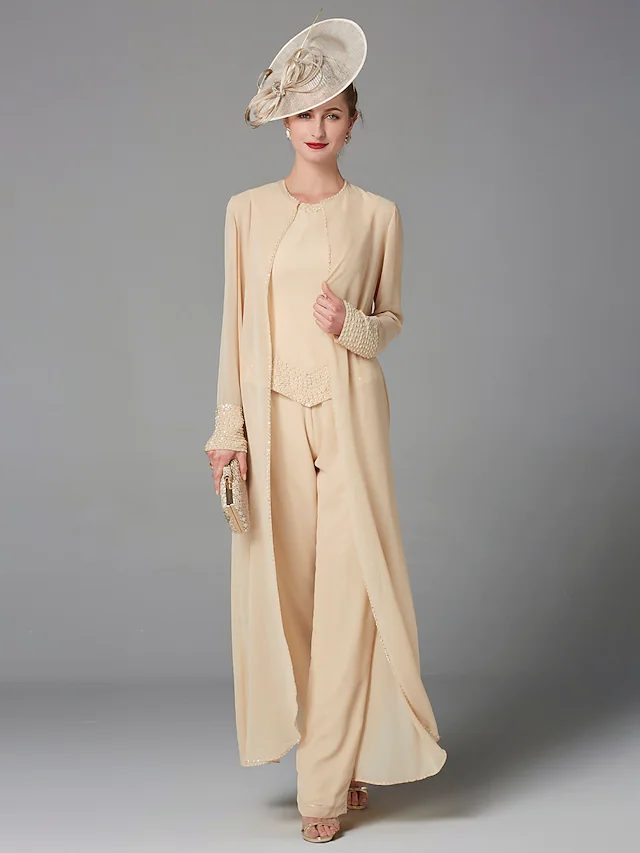 Cream pant suit for mother of groom