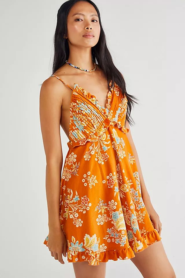 Orangle floral dress from Free People
