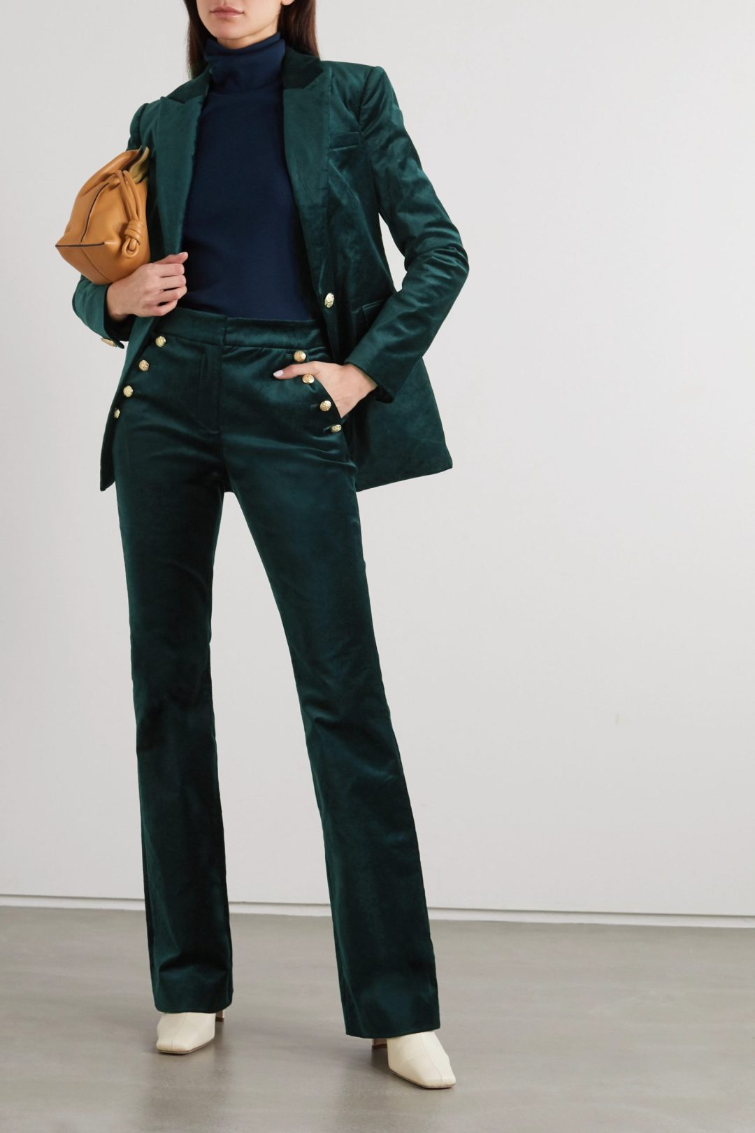 Velvet Emerald Green trouser suit