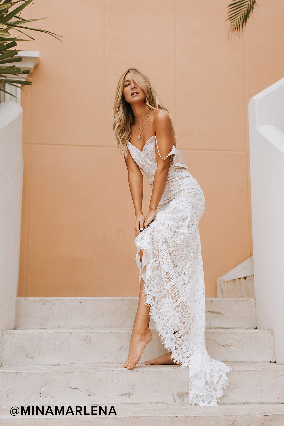 Affordable lace wedding dress under $100