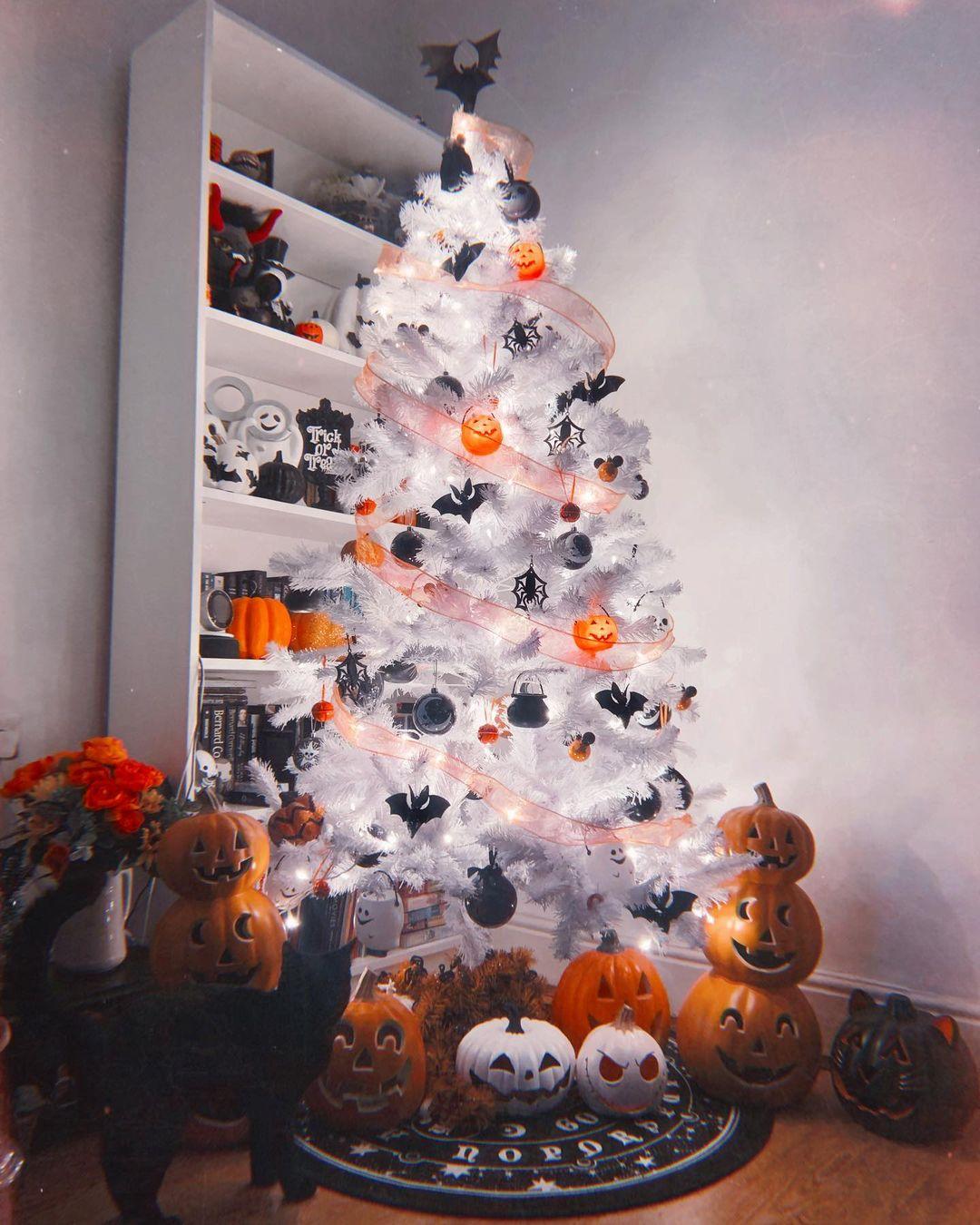 White Halloween Tree by Hannah Rose