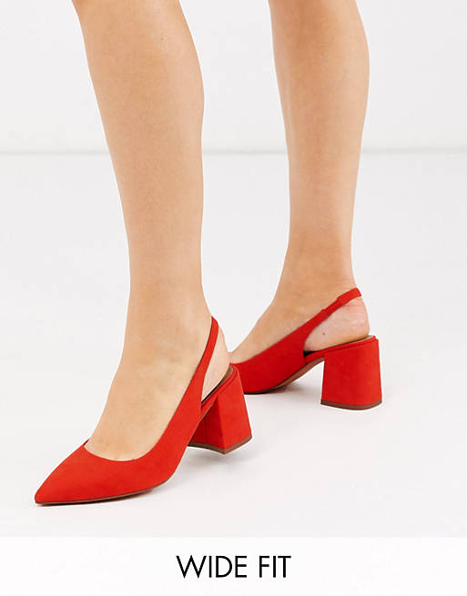 What Color Shoes To Wear With A Yellow Dress: Red slingbacks