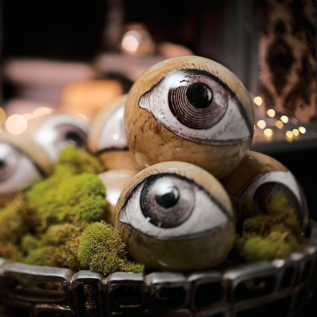 Creepy Eyeball Orbs for best Indoor Halloween Decorations