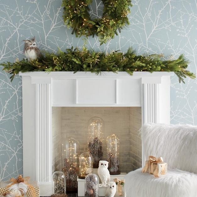 Simple Christmas Fireplace Garland