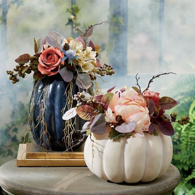 Secret Garden Pumpkin Centerpiece