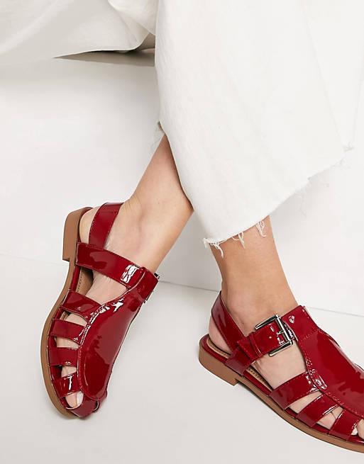 Deep red sandals