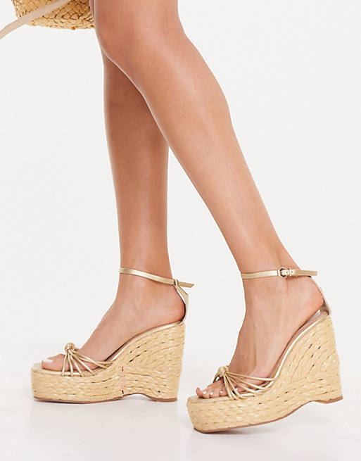 What Color Shoes To Wear With A Yellow Dress: Gold espadrilles