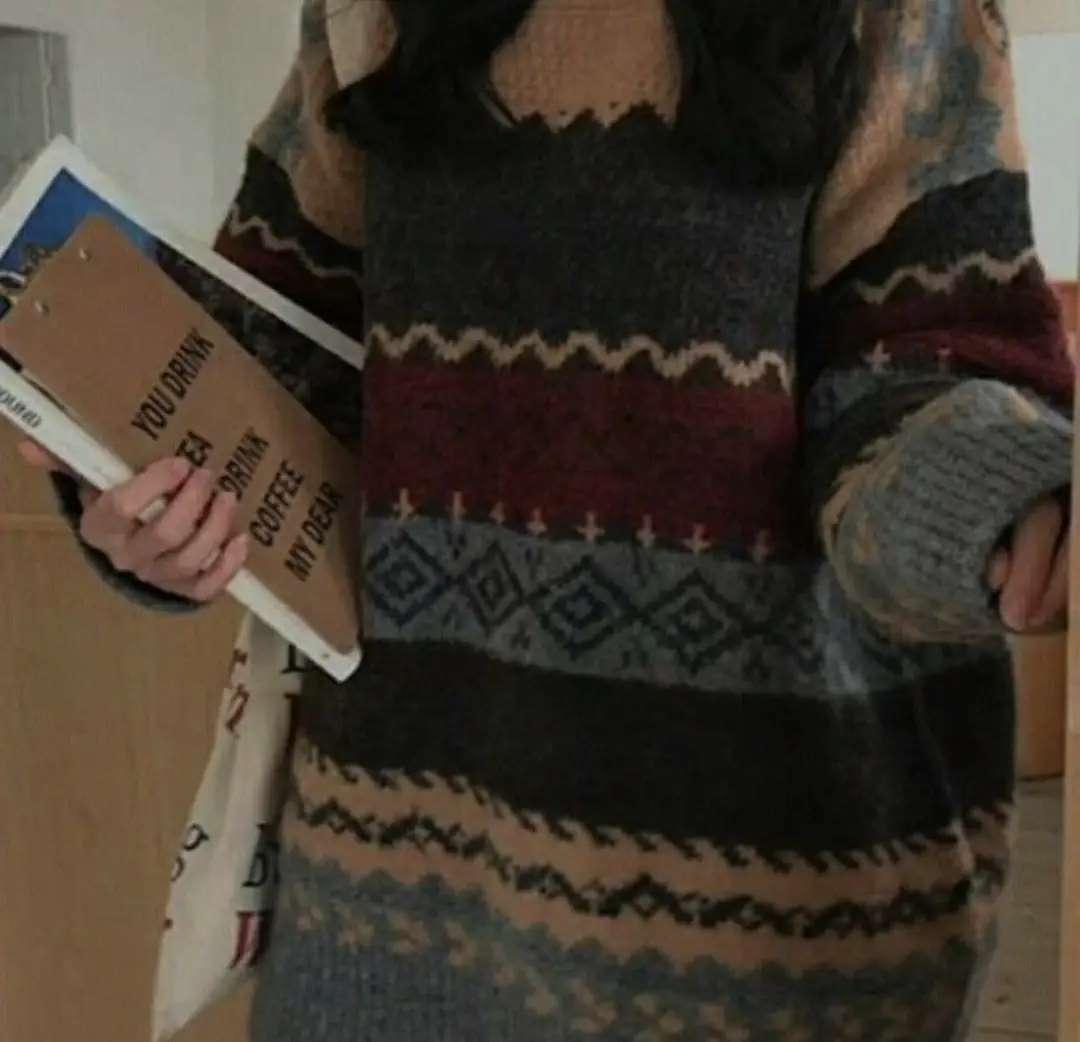 Oversized goblincore aesthetic sweater