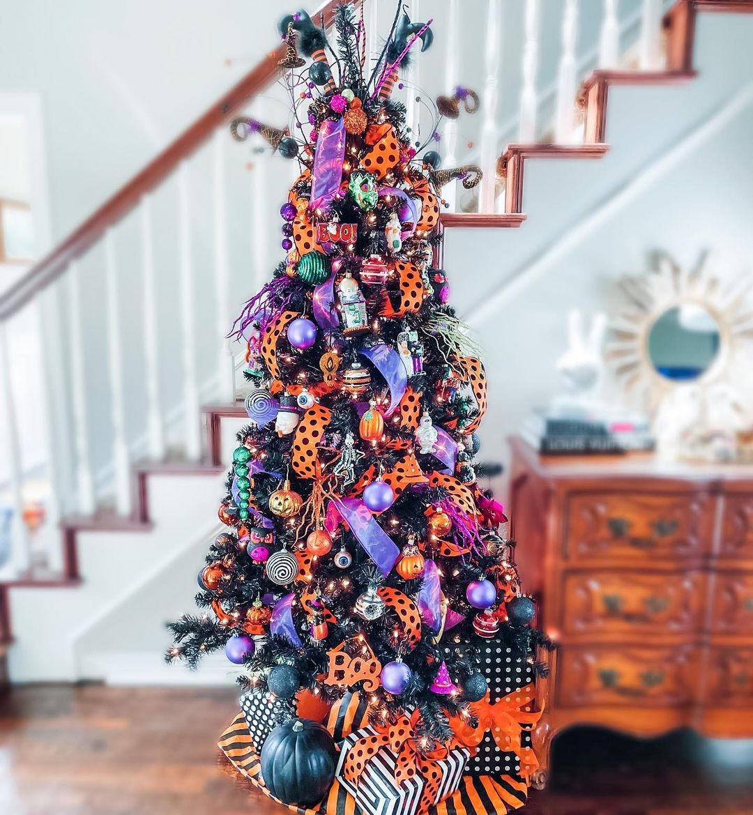 Blinged Out Halloween Tree