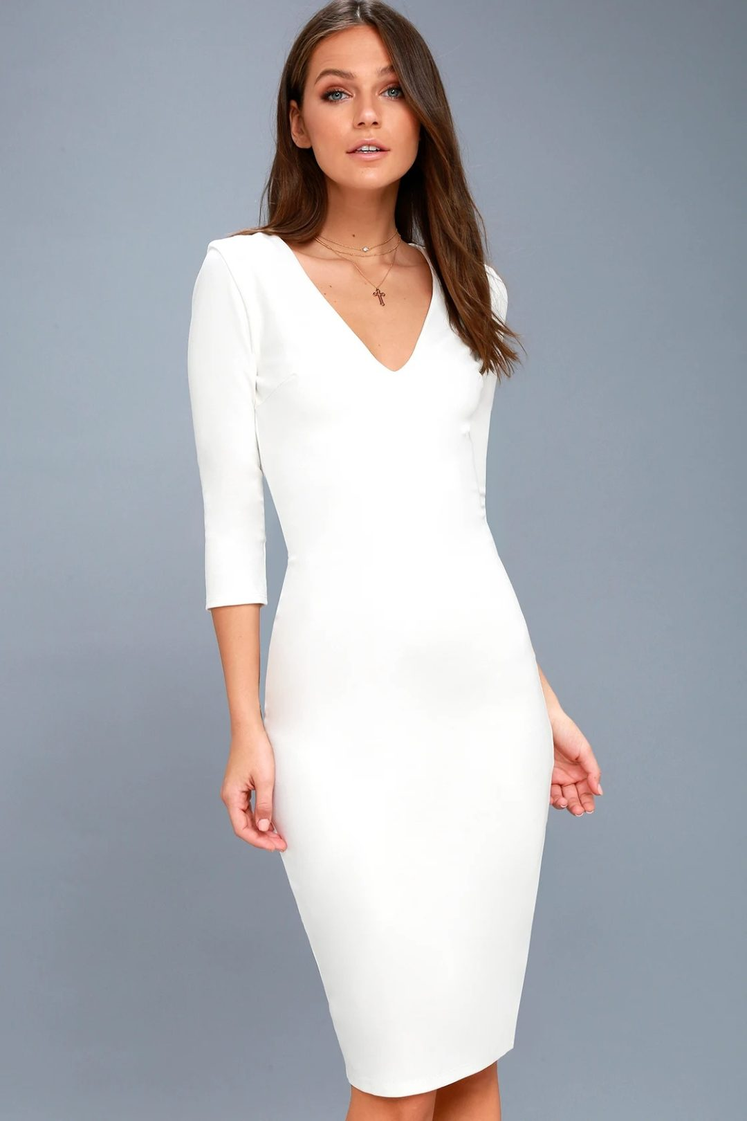 What To Wear To A Celebration Of Life: Simple white bodycon dress