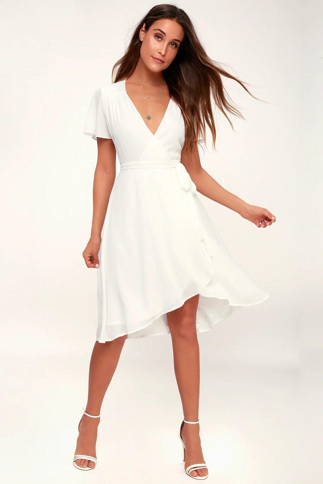 White flowy A-line dress