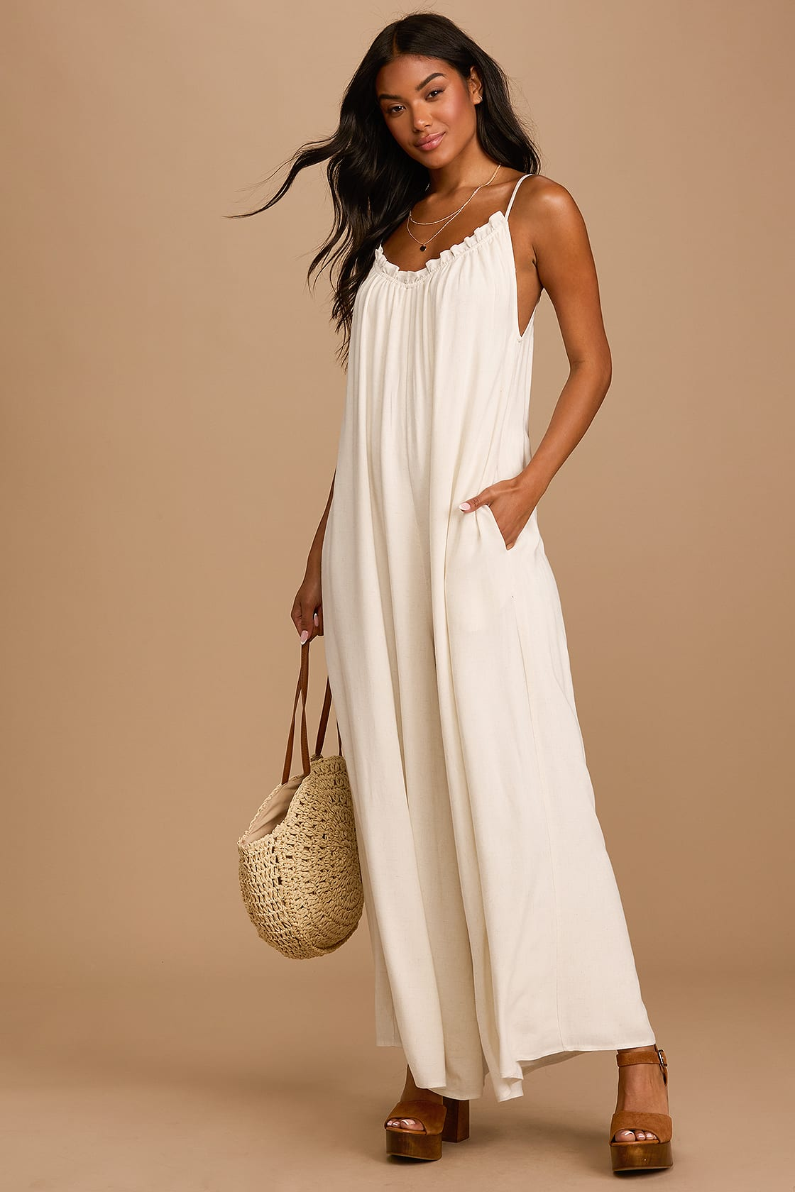 What To Wear To A Boat Party: White jumpsuit