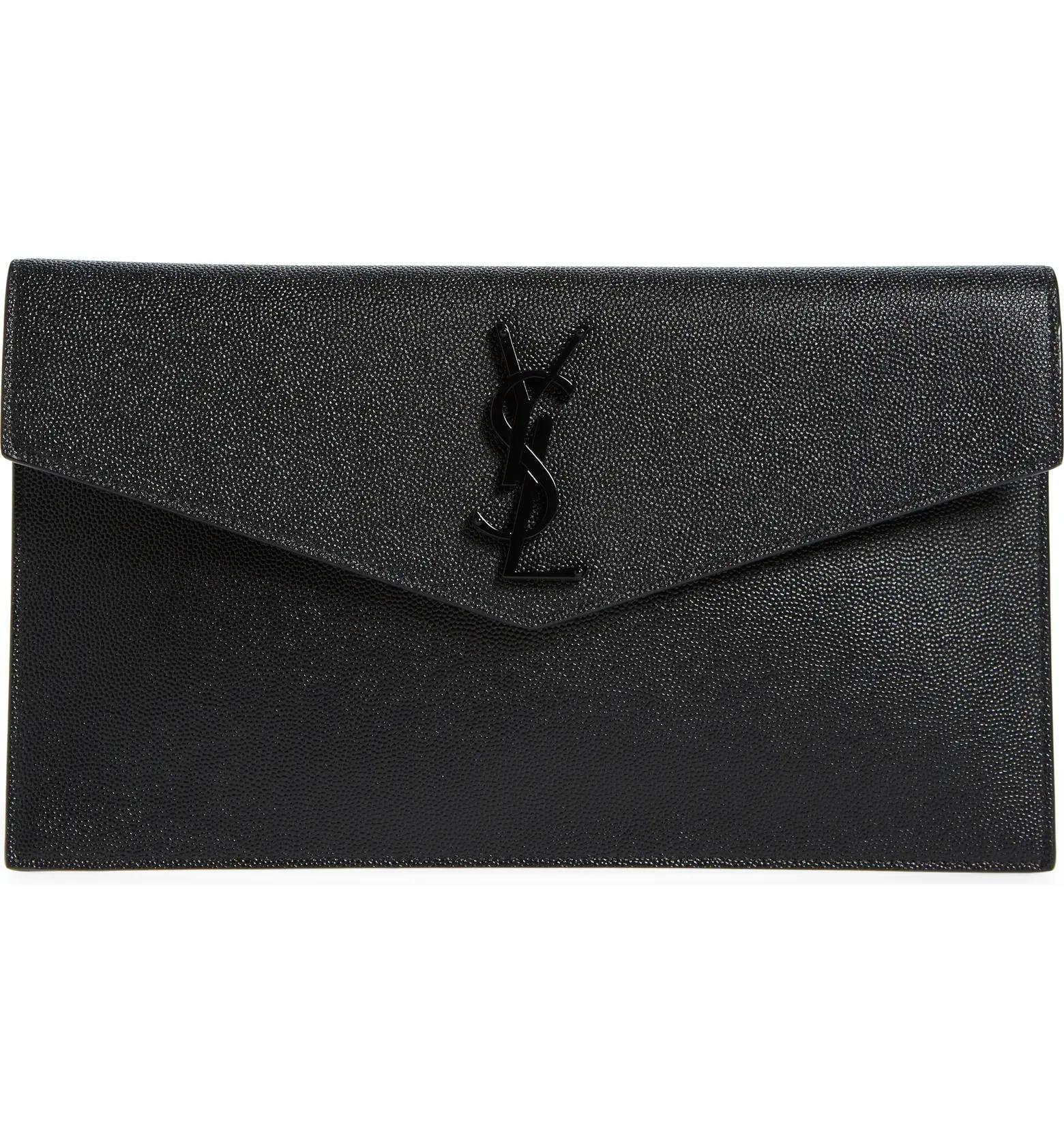Black YSL clutch