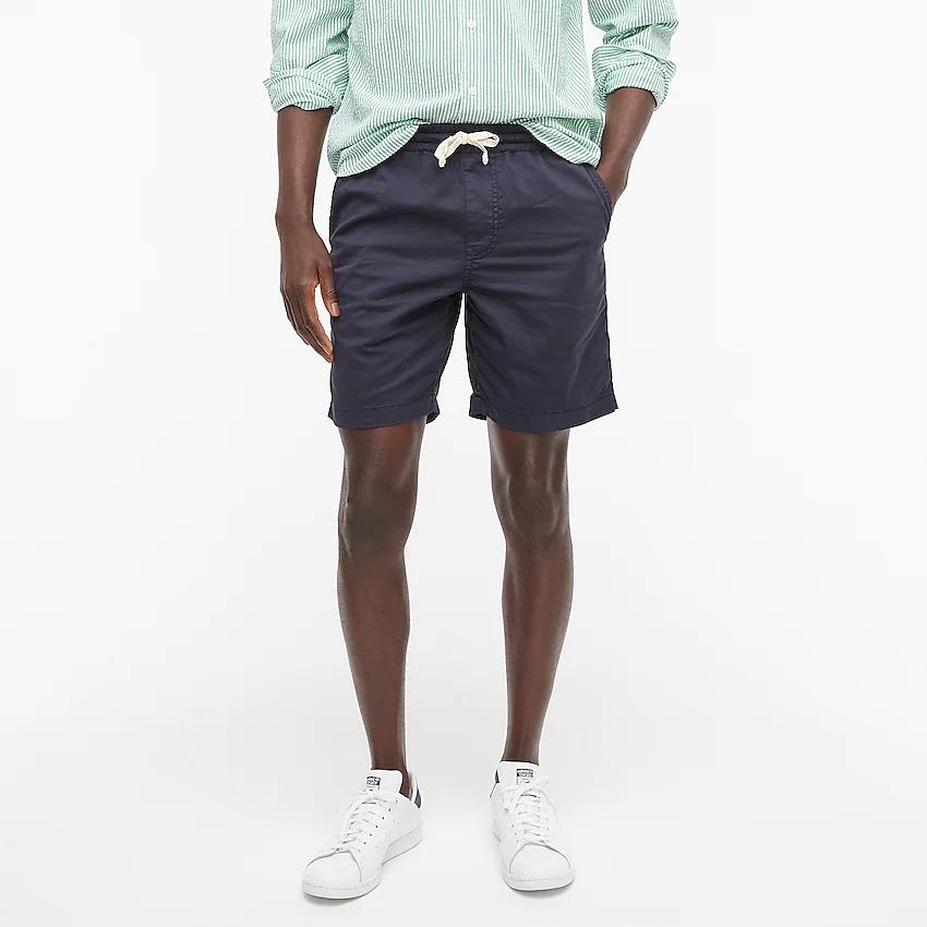 Navy dock shorts