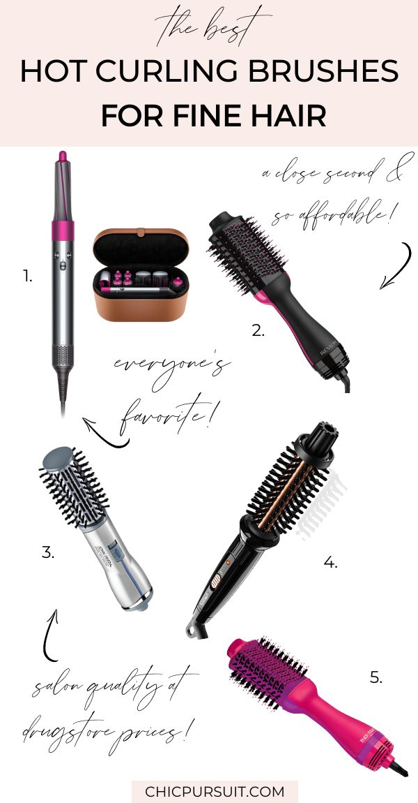 The best hot curling brush for fine hair -ranked