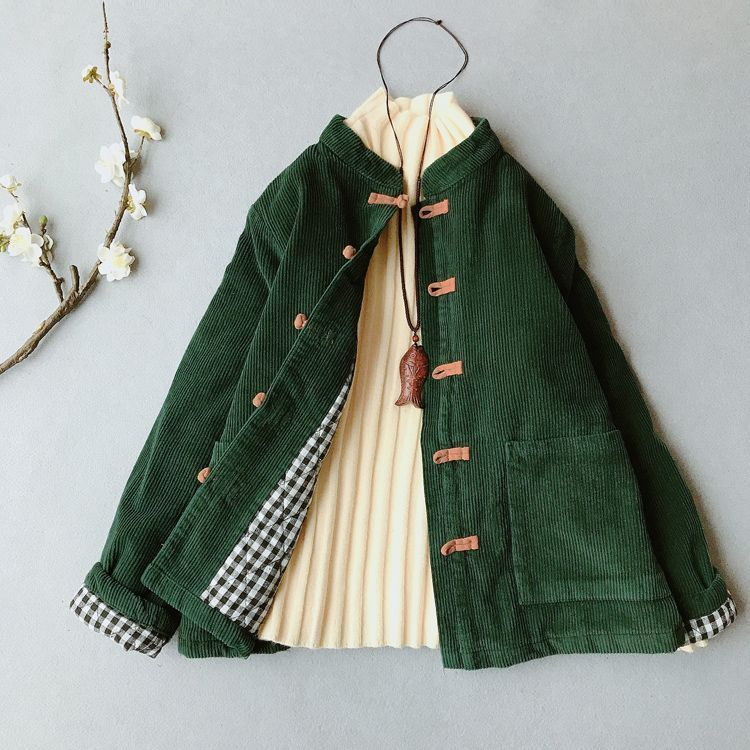 Dark green corduroy jacket