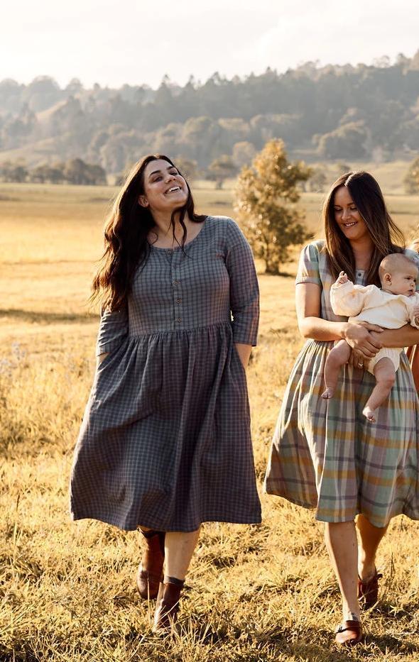 Checkered farm chic dress