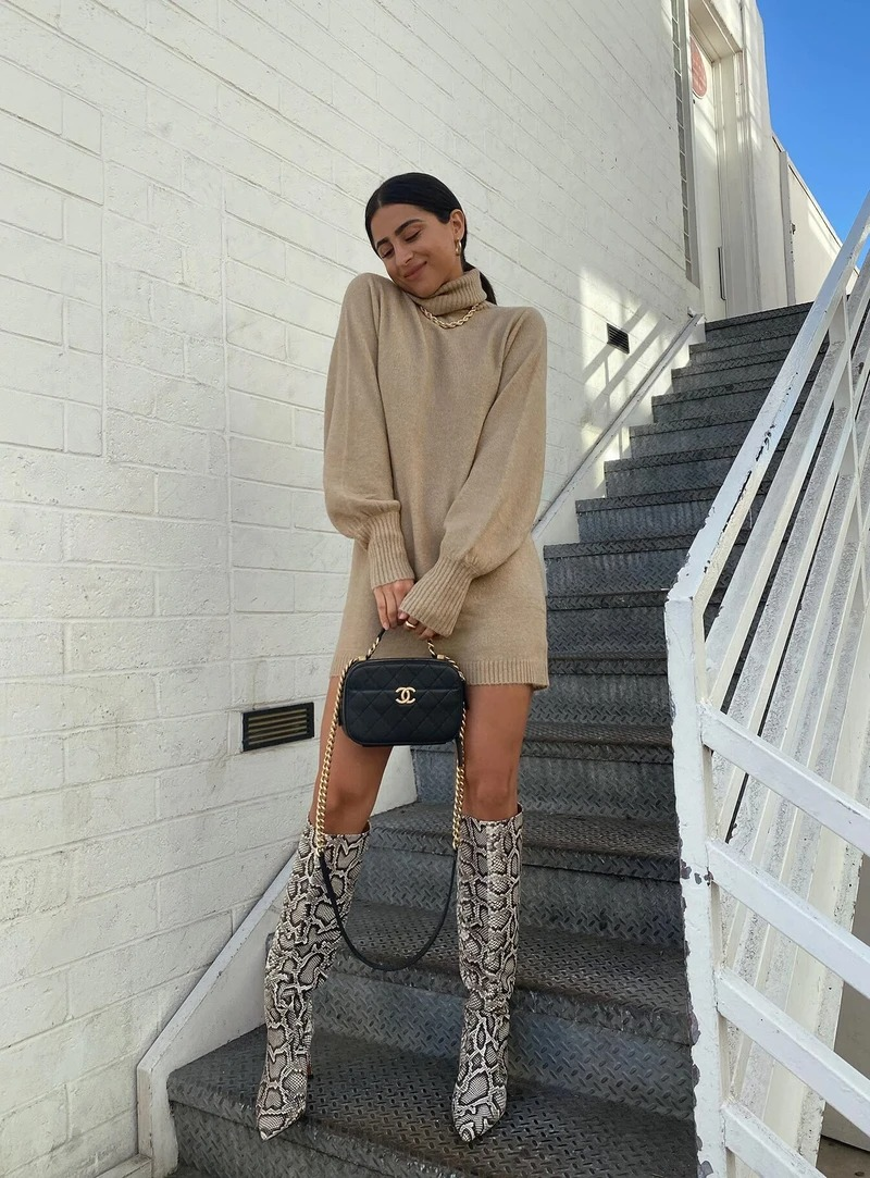 Got Thigh High Boots? Here's How To Style Them This Fall