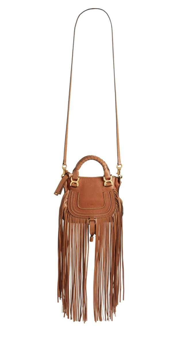 What To Wear To A Country Music Festival: Brown fringed crossbody bag