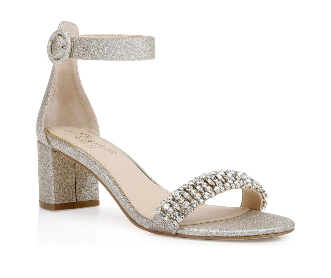 What Color Shoes To Wear With A Yellow Dress: Metallic silver sandals