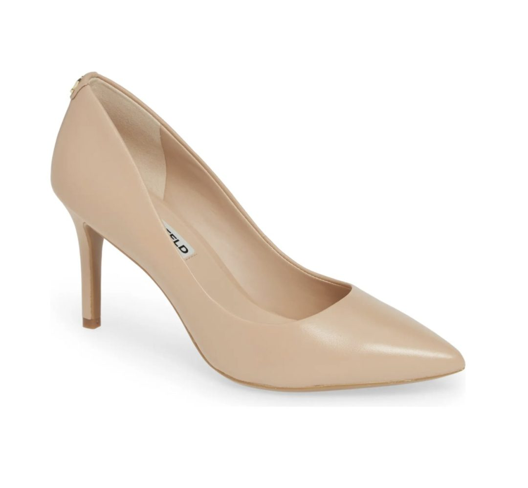 What Color Shoes To Wear With A Yellow Dress: Nude heels