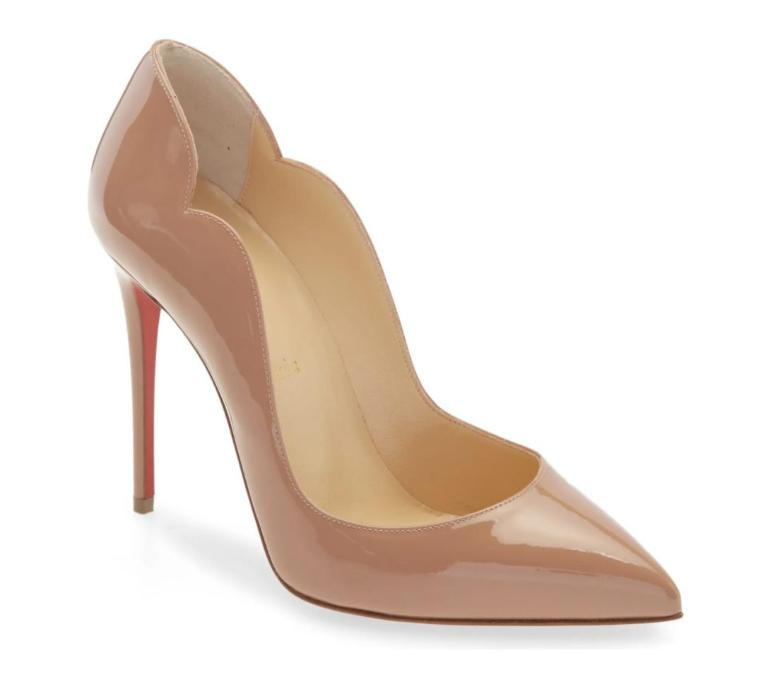 What Color Shoes To Wear With A Yellow Dress: Nude Louboutin heels
