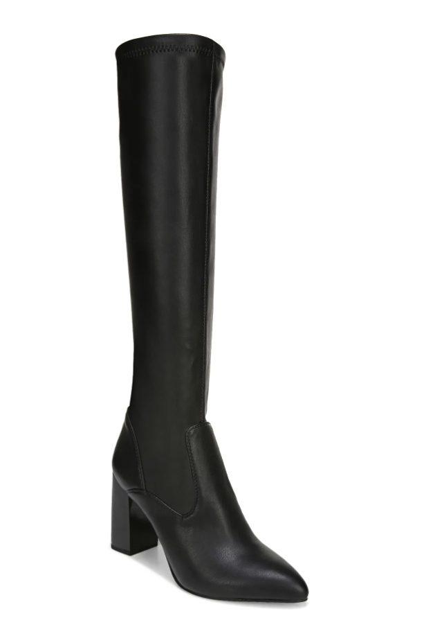 Sleek black knee high boots